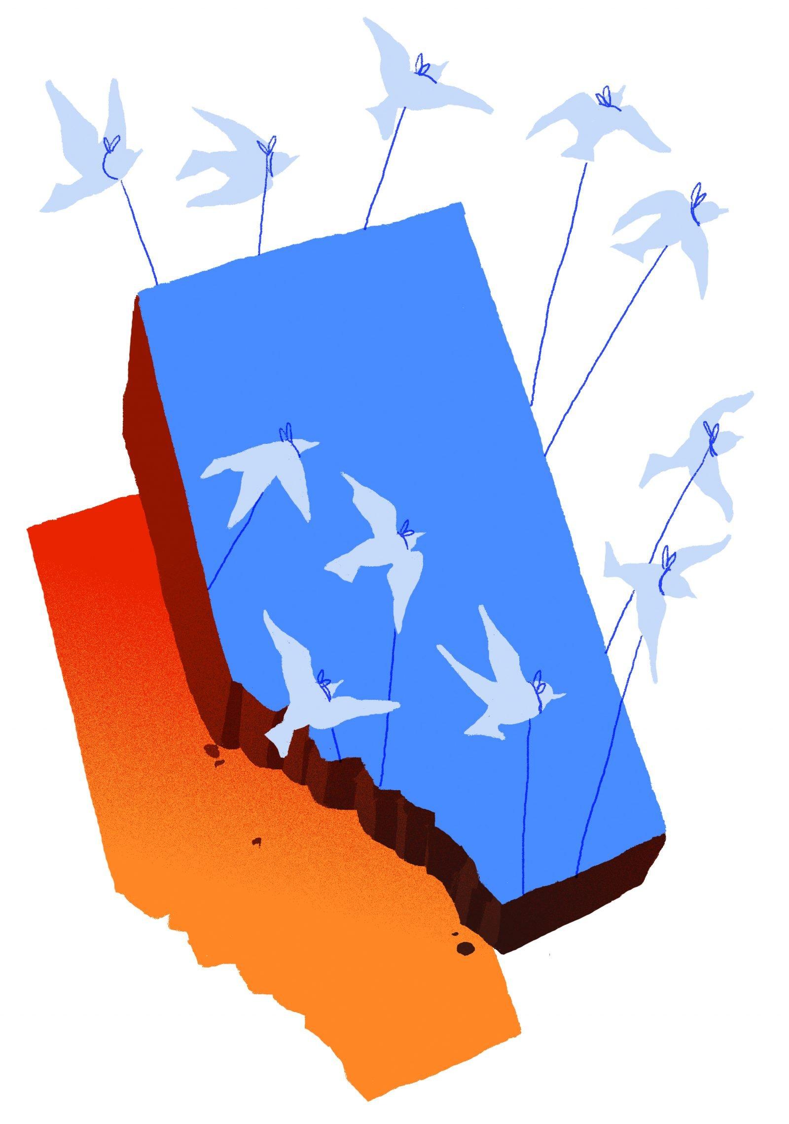 Alberta Flying Away Illustration